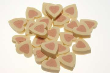 Hearts Duo with Salmon (Light Pink)